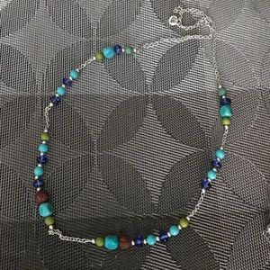 The Sak beaded multi-color layering necklace! NWOT